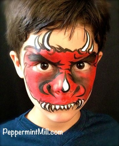 006_flash dragon monster face painting peppermint mill lg a