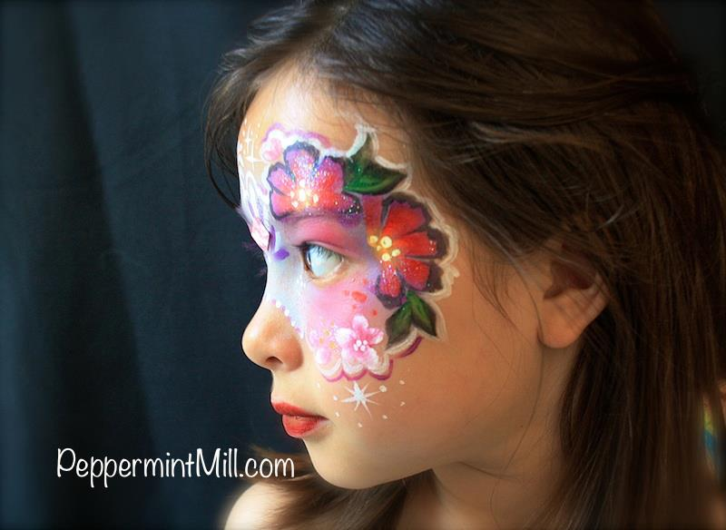 best face painting flower mask masquerade